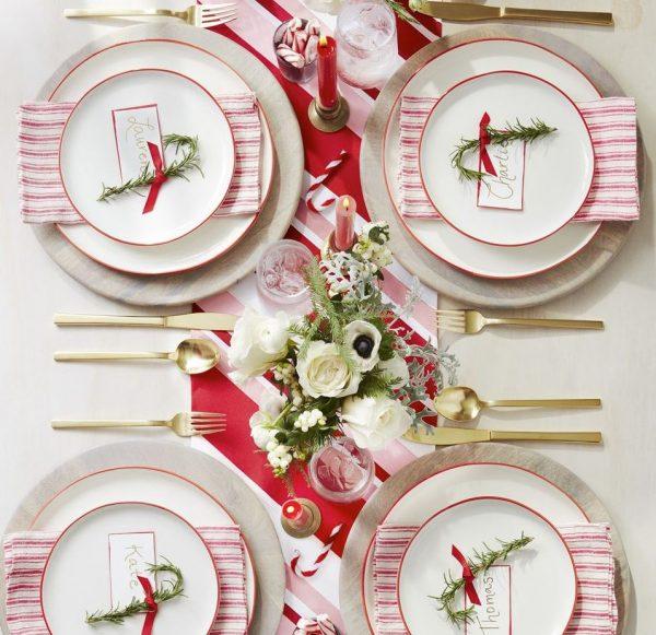 como adornar la mesa de navidad