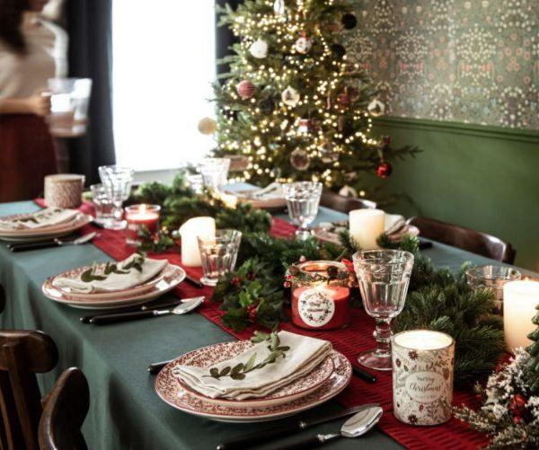 como adornar una mesa de navidad