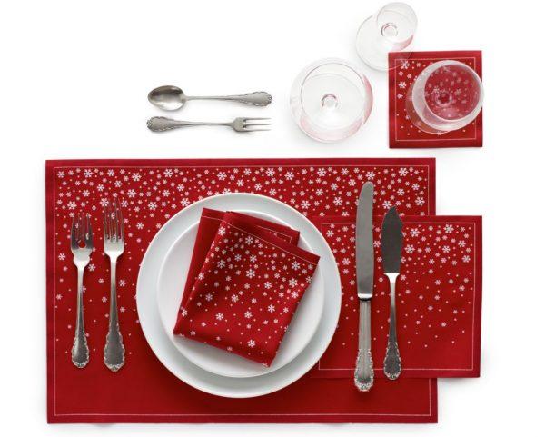 como colocar los cubiertos en la mesa de navidad