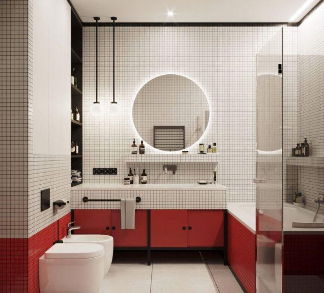 como decorar el espejo del baño
