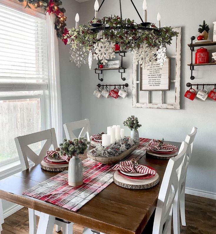 como decorar la mesa de navidad con cosas caseras