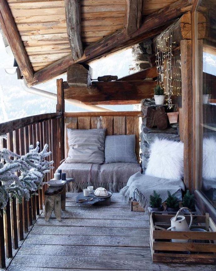como decorar la terraza en invierno