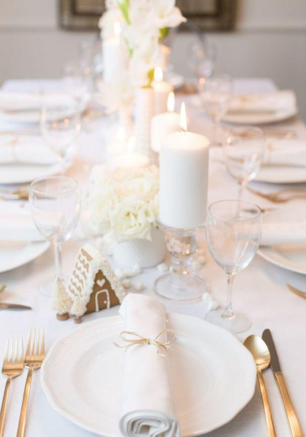 como decorar mesa de navidad