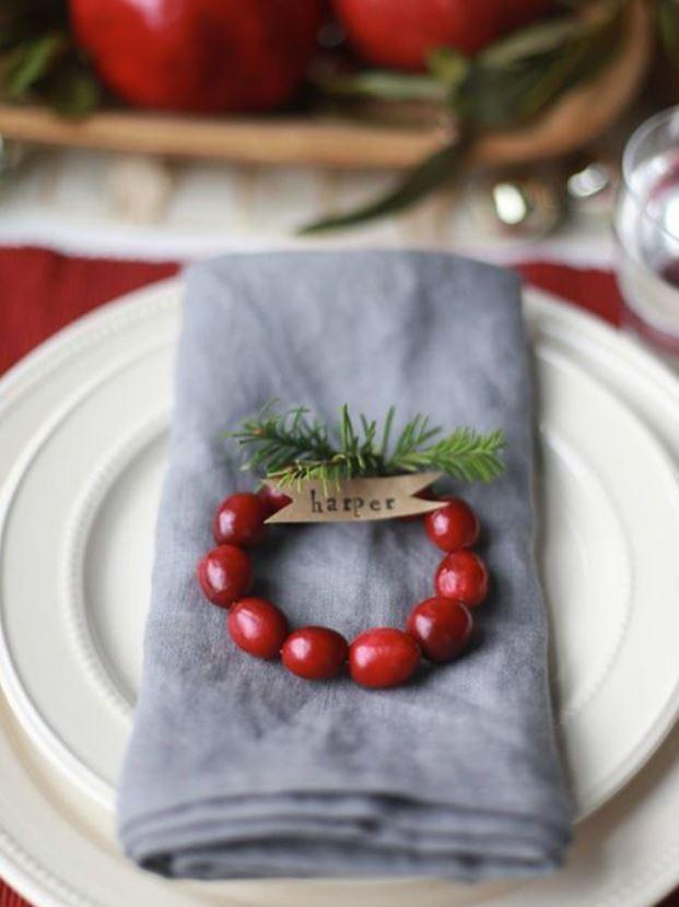 como decorar mesa navidad detalles personalizados
