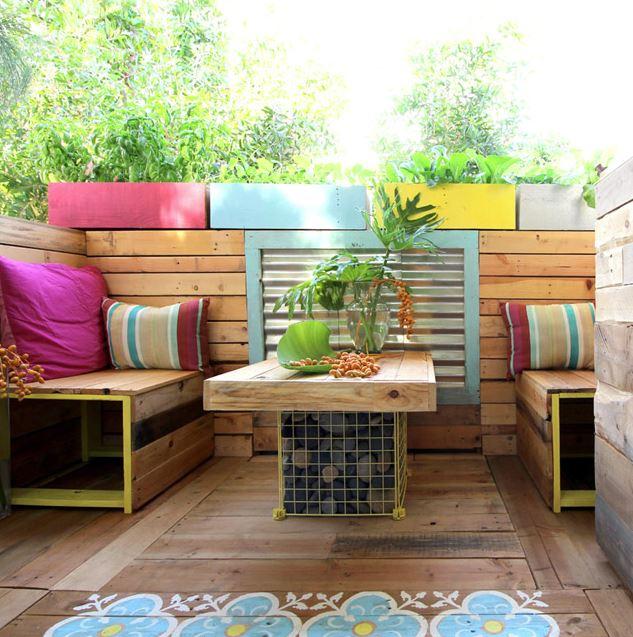 como decorar terrazas pequeñas colores