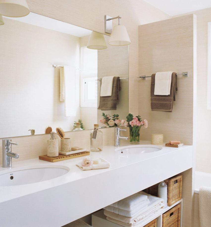 como decorar un baño sin ventana