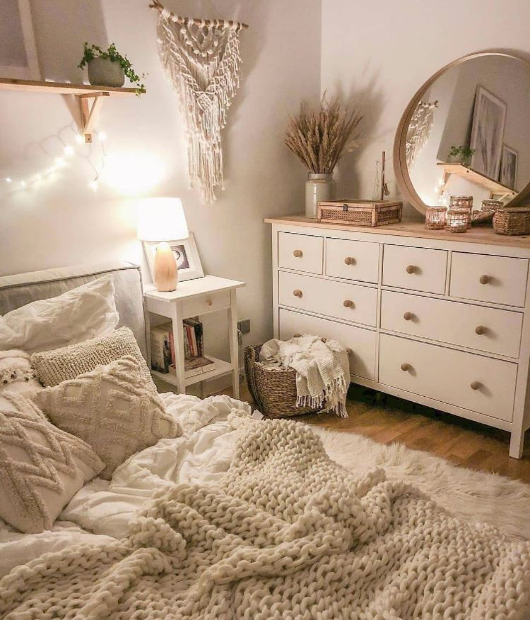 como decorar un dormitorio blanco
