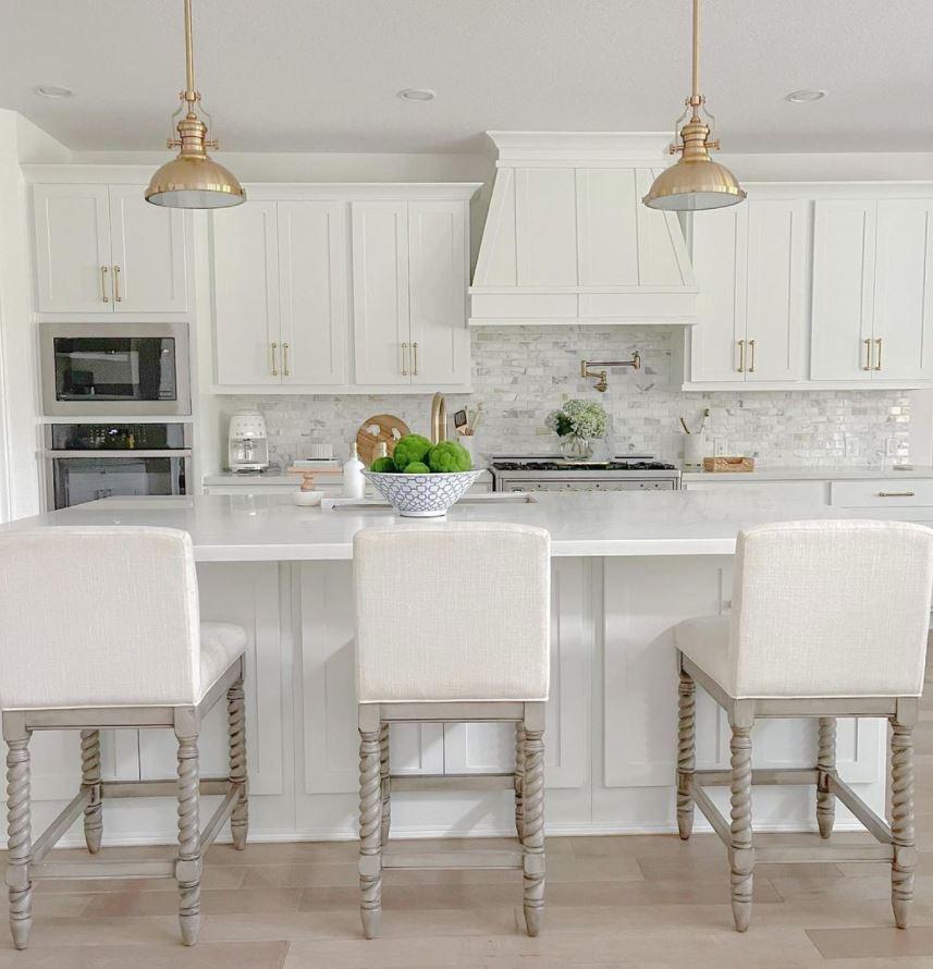 como decorar una cocina blanca