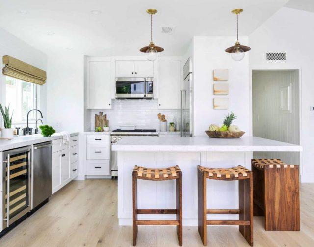 como decorar una cocina de color blanco