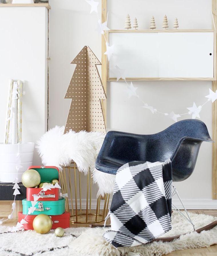como decorar una habitacion navideña