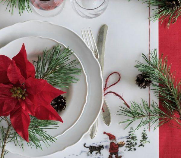 como decorar una mesa de navidad economica