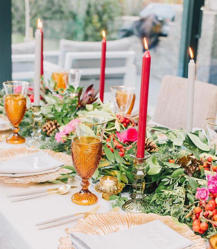 como decorar una mesa navideña