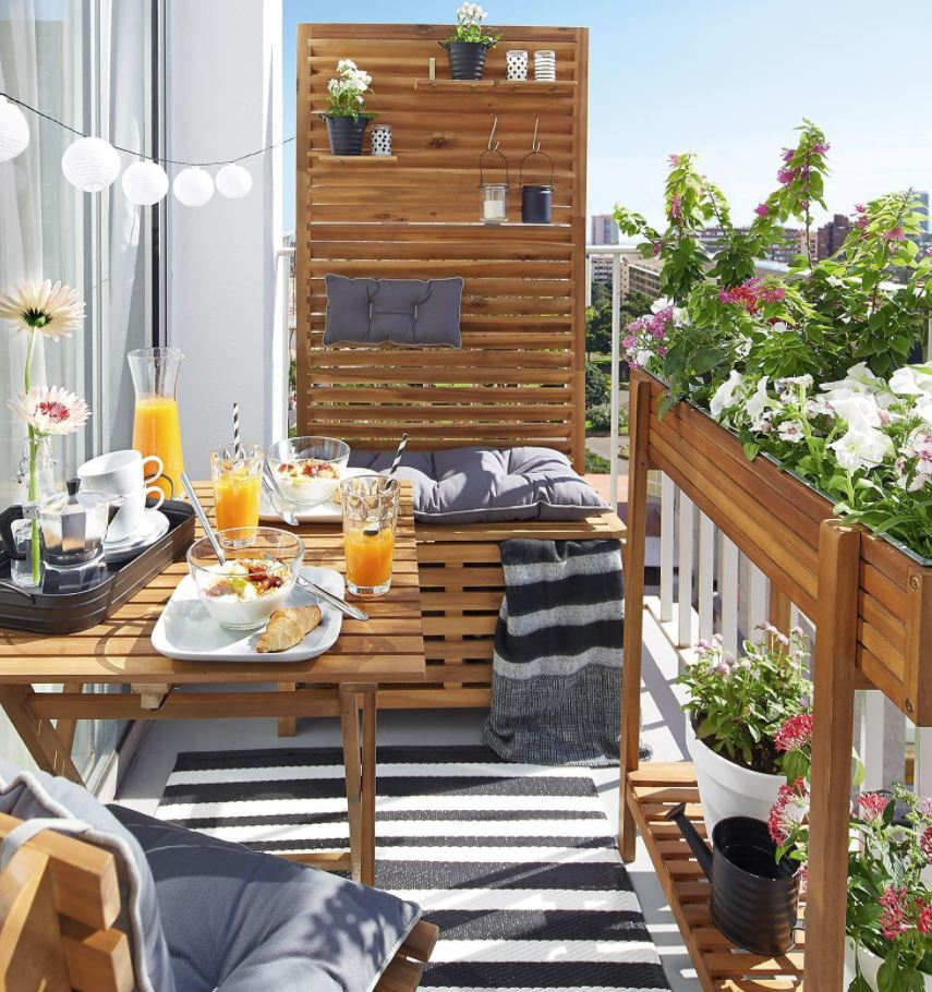 como decorar una terraza pequeña con poco dinero