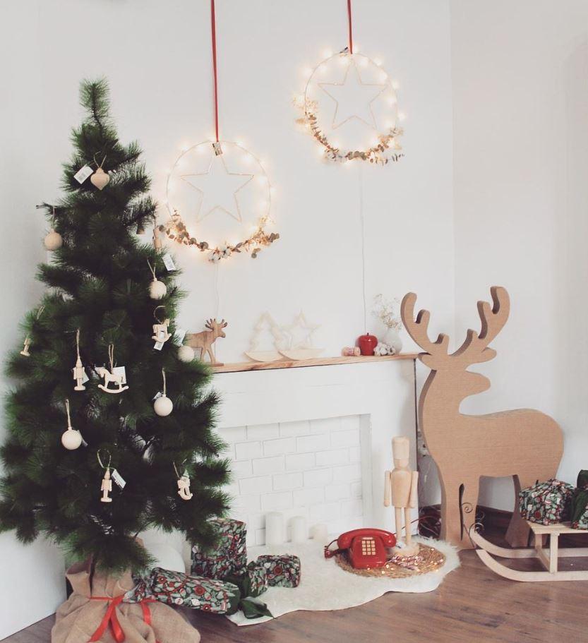 como hacer chimenea decorativa