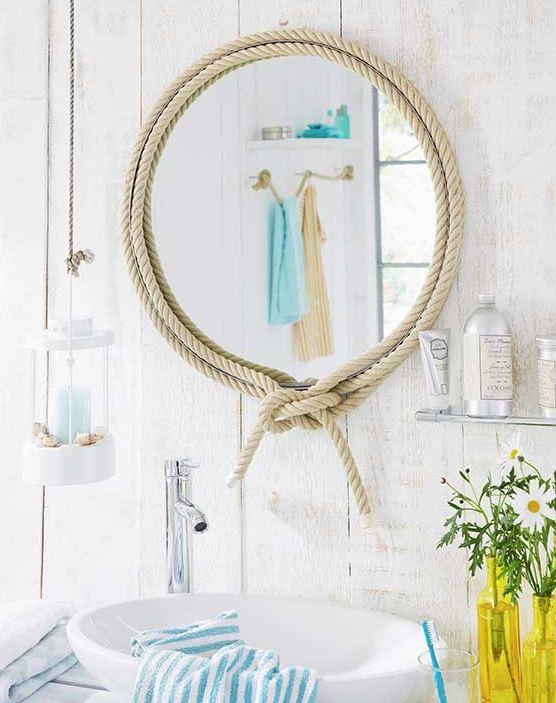como hacer un espejo con cuerda