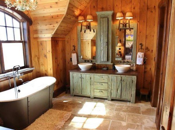 como hacer un mueble de baño rustico