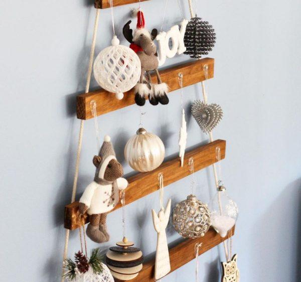 comprar arbol navidad madera pared