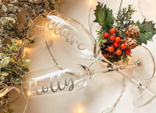 copas de flauta personalizadas para navidad