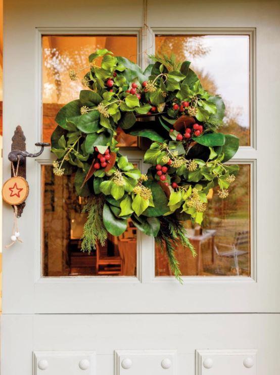 coronas de navidad para puertas pinterest