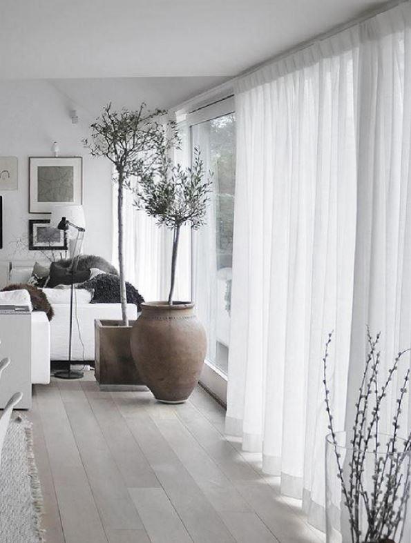 cortinas claras para salon comedor