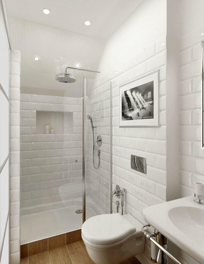 cuarto de baño estrecho y alargado