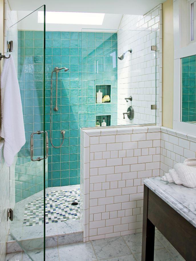 cuarto de baño pequeño con ducha