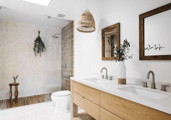 cuartos de baño con ducha moderna
