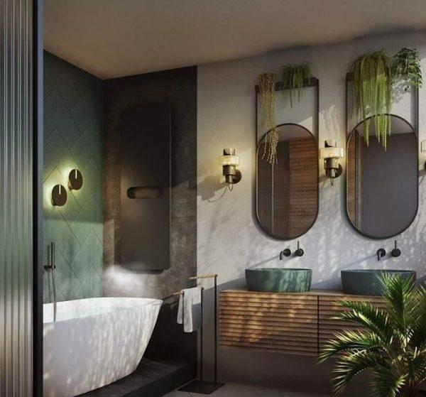cuartos de baño con espejos redondos