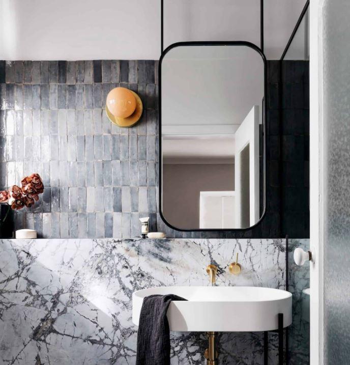 cuartos de baño originales en negro