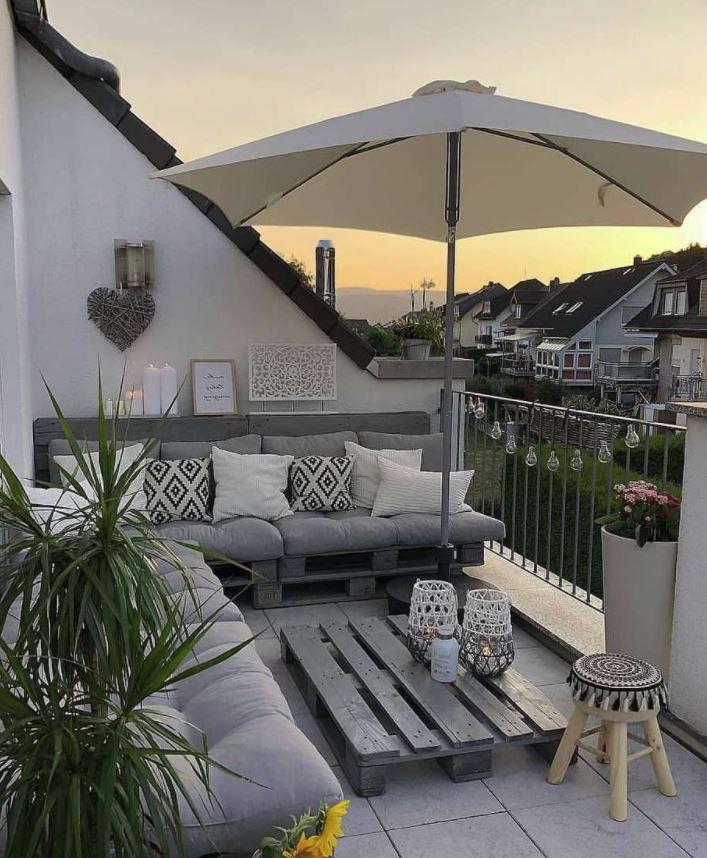 dar intimidad a la terraza