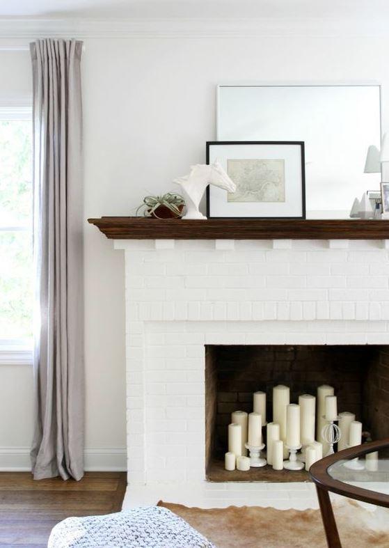 decoración de chimeneas en salones