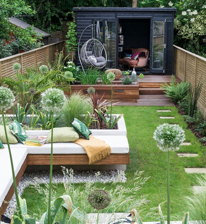 decoración de jardines pequeños exteriores