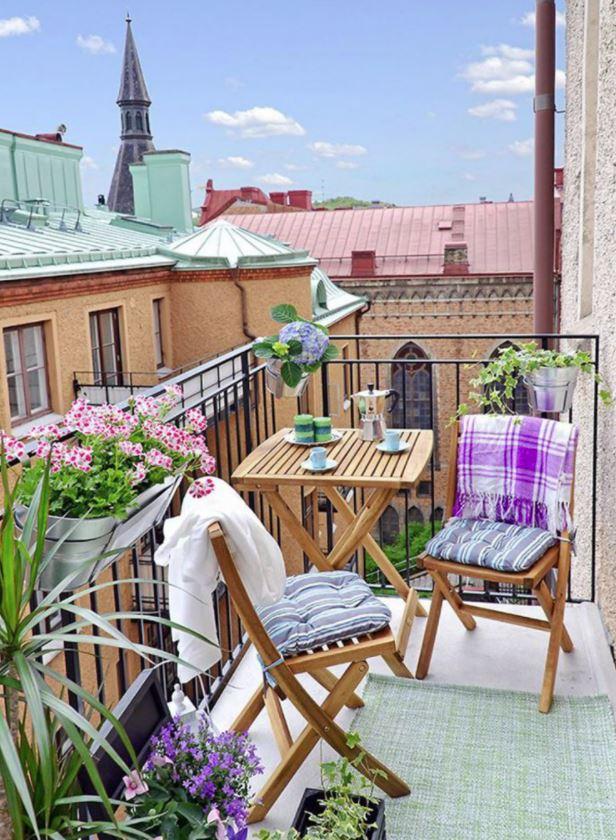 decoracion balcones pequeños