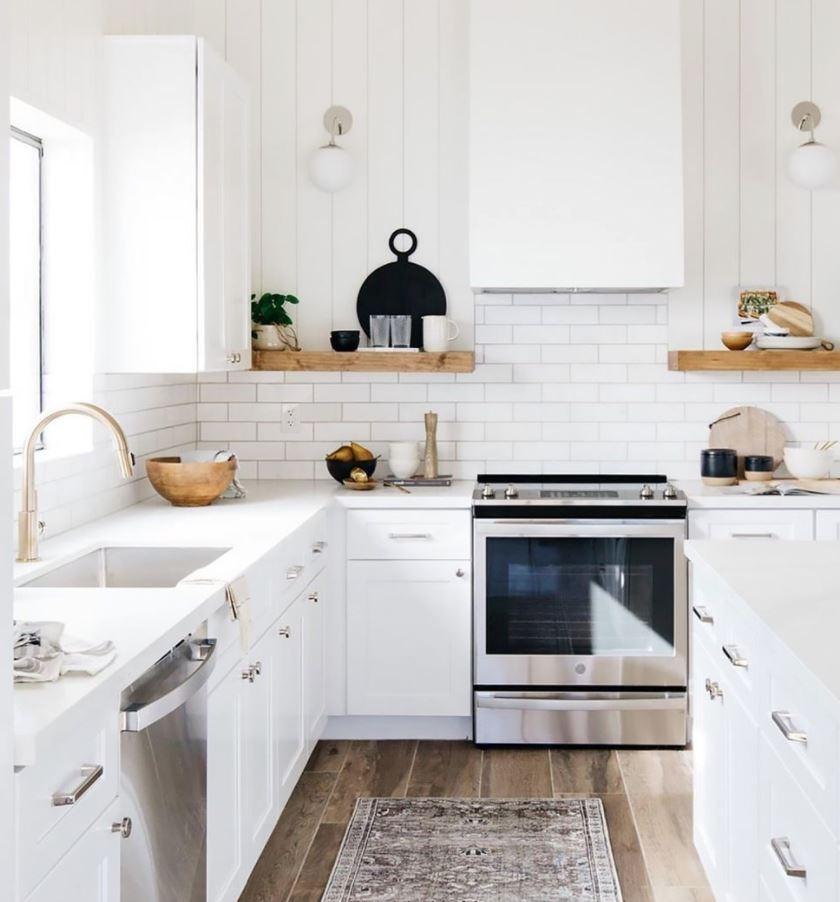 decoracion cocina blanca moderna