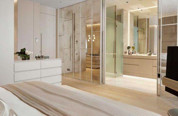 decoracion de baños integrados en el dormitorio