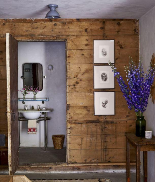 decoracion de interiores baños rusticos