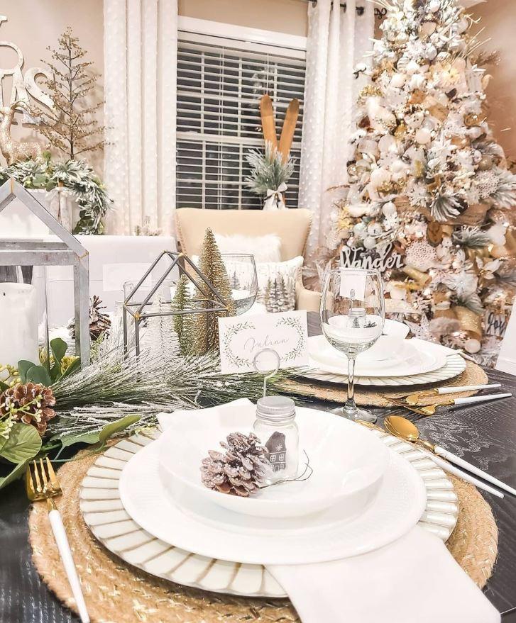 decoracion de mesas de navidad elegantes