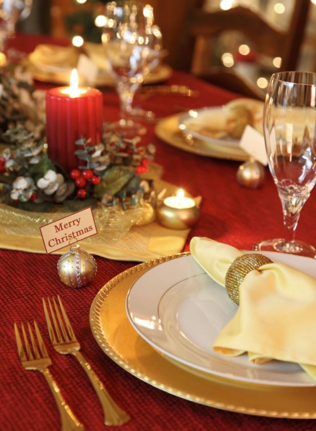 decoracion de mesas de navidad