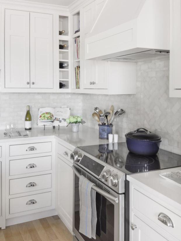decoracion en blanco y madera cocina