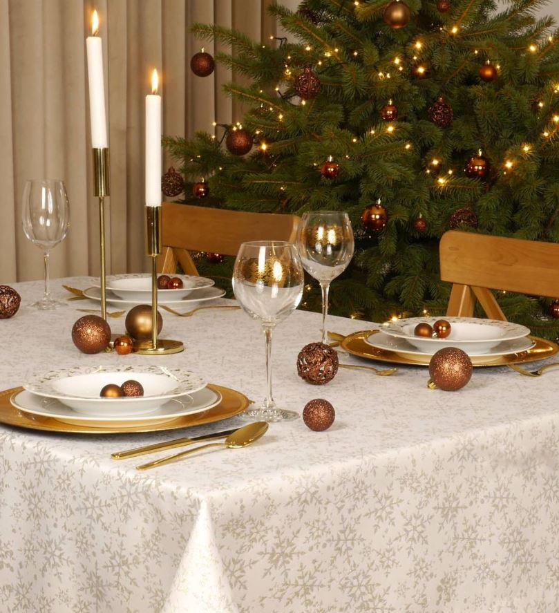 decoracion mesa de navidad