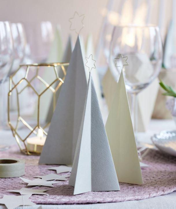 decoracion mesa navidad nordica