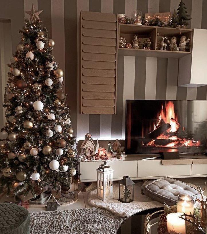 decoracion navidad salon pequeño