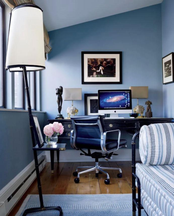 decoracion oficina en casa vintage retro