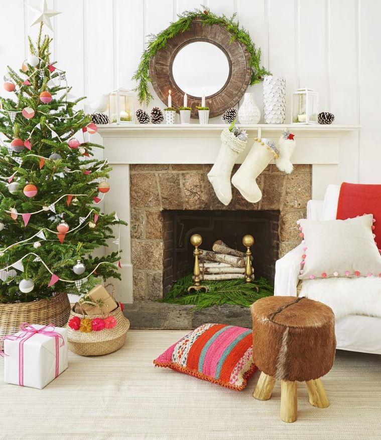 decoracion original de navidad para salon