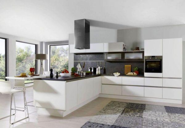 decoracion para cocinas blancas modernas