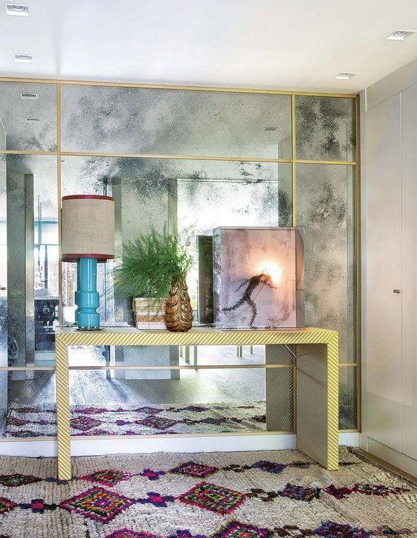 decoracion salones grandes espejos