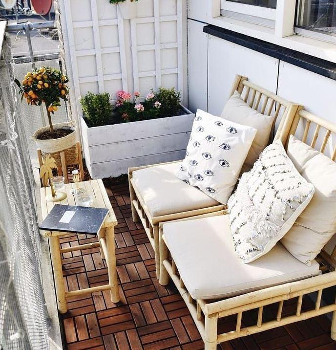 decoracion terraza rustica sencilla