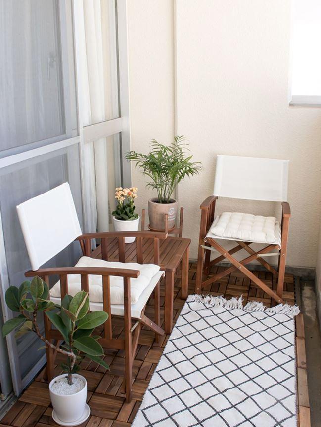 decoracion terrazas pequeñas rusticas