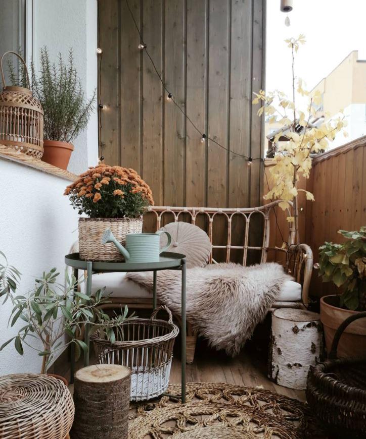 decorar balcones muy estrechos