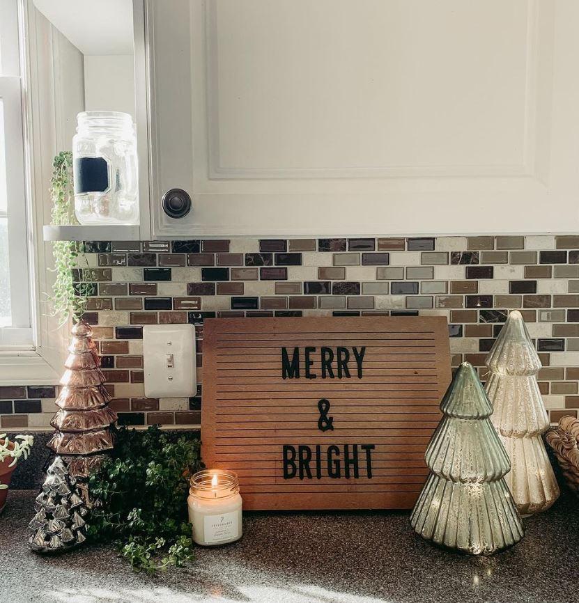 decorar con letras de madera de navidad